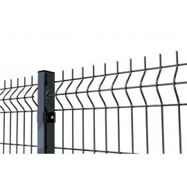 Gruby i wysoki panel ogrodzeniowy. Panel fi 4. Ogrodzenie panelowe grafitowe. Panel antracyt.