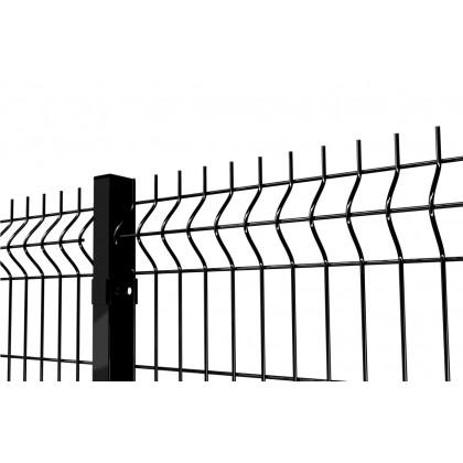 Czarne panele ogrodzeniowe. Gruby panel czarny.